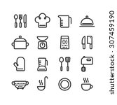 set of clean line icons of... | Shutterstock . vector #307459190