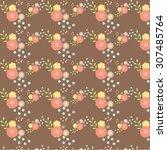 seamless vintage flower pattern  | Shutterstock . vector #307485764