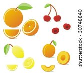 isolated icon fruits | Shutterstock .eps vector #30748840