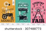 beautiful vector detailed event ... | Shutterstock .eps vector #307488773