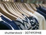 Hangers In Fashion Clothes Shop
