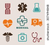 medical digital design  vector... | Shutterstock .eps vector #307494848