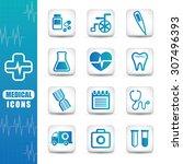 medical digital design  vector... | Shutterstock .eps vector #307496393