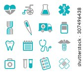 medical digital design  vector... | Shutterstock .eps vector #307496438