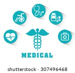 medical digital design  vector... | Shutterstock .eps vector #307496468
