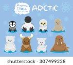 animal dolls arctic set cartoon ...
