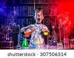 A Boy Doing Experiments In The...