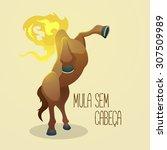 mula sem cabeca  headless mule  ...   Shutterstock .eps vector #307509989