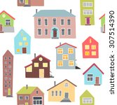 pattern with different houses