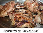 grilled leg of lamb | Shutterstock . vector #307514834