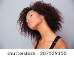 portrait of a thoughtful afro... | Shutterstock . vector #307529150