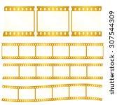 vector worn torn film strips  ... | Shutterstock .eps vector #307544309
