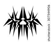 tribal tattoo vector design...   Shutterstock .eps vector #307544906