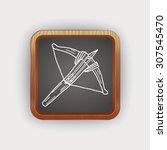 crossbow doodle | Shutterstock .eps vector #307545470