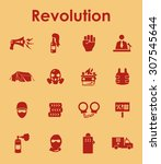 it is a set of revolution... | Shutterstock .eps vector #307545644