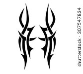 tattoo tribal vector designs.... | Shutterstock .eps vector #307547834