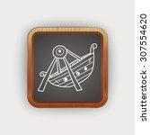 amusement park doodle | Shutterstock .eps vector #307554620