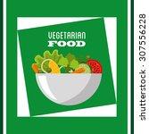 vegetarian menu design  vector... | Shutterstock .eps vector #307556228