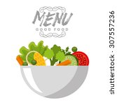 vegetarian menu design  vector... | Shutterstock .eps vector #307557236