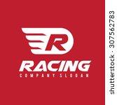 r letter  racing logo template | Shutterstock .eps vector #307562783