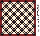 traditional batik pattern of... | Shutterstock .eps vector #307563086