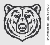 white bear head logo mascot...