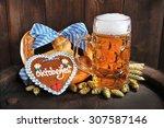 original bavarian oktoberfest...   Shutterstock . vector #307587146