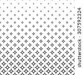 seamless black and white star... | Shutterstock .eps vector #307592324