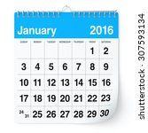January 2016   Calendar....