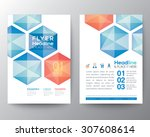abstract hexagon poster... | Shutterstock .eps vector #307608614
