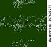 blackboard. school. seamless... | Shutterstock .eps vector #307609274