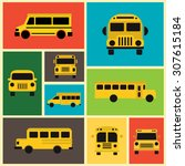 school bus collection  ... | Shutterstock .eps vector #307615184