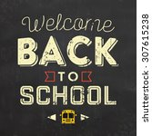 back to school typographic... | Shutterstock .eps vector #307615238