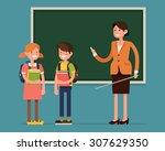 lovely vector character flat... | Shutterstock .eps vector #307629350