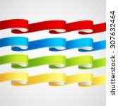 vector ribbons set | Shutterstock .eps vector #307632464