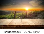 Wooden Pier And Sunset Space