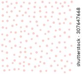 random pattern of faded pink... | Shutterstock .eps vector #307647668