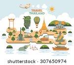 travel thailand landmarks | Shutterstock .eps vector #307650974