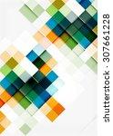 square shape mosaic pattern... | Shutterstock . vector #307661228