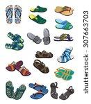 Set Of Men\'s Flip Flops And...