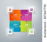 four steps infographics   can... | Shutterstock .eps vector #307667750