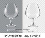 transparent vector glass... | Shutterstock .eps vector #307669046