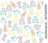 baby toys design  vector... | Shutterstock .eps vector #307669394