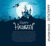 halloween design with wide copy ...   Shutterstock .eps vector #307670999