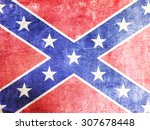 confederate flag background... | Shutterstock . vector #307678448