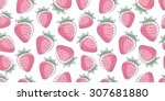 hand drawn isolated seamless... | Shutterstock .eps vector #307681880