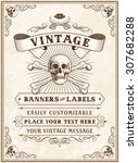 vintage looking invite template ... | Shutterstock .eps vector #307682288