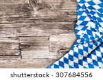 blue checkered bavarian... | Shutterstock . vector #307684556