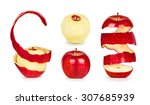 collection of apples with peel... | Shutterstock . vector #307685939