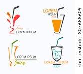juicy logos | Shutterstock .eps vector #307688609